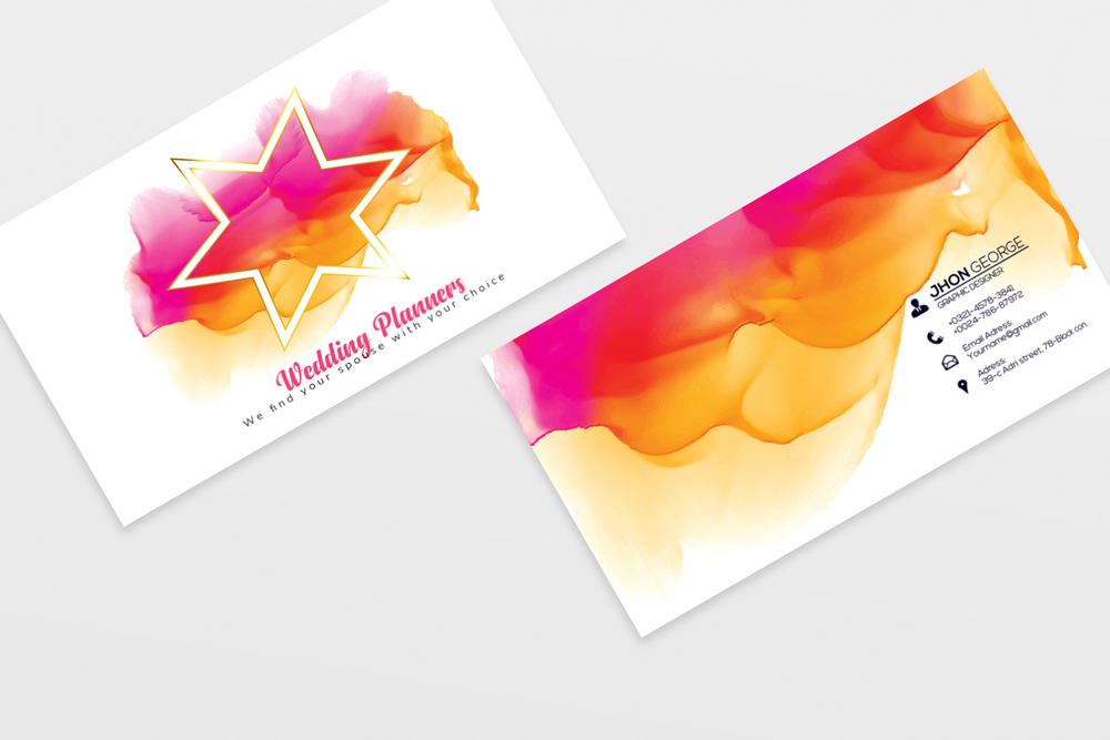 Wedding Planner's Business Card 02 example image 2