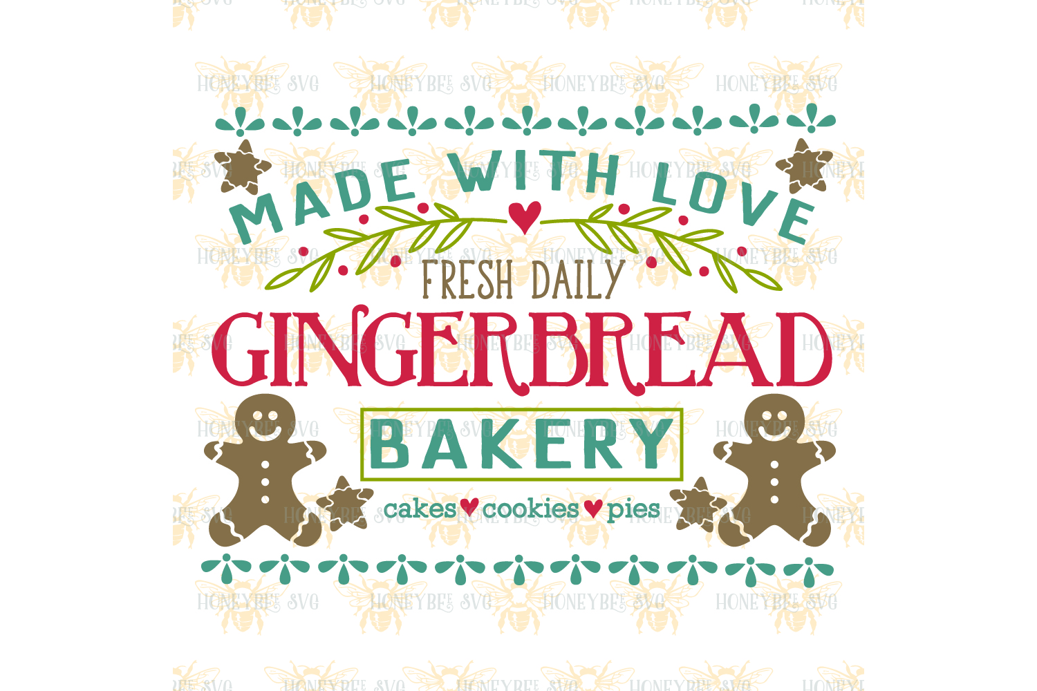 Gingerbread Bakery svg example image 2
