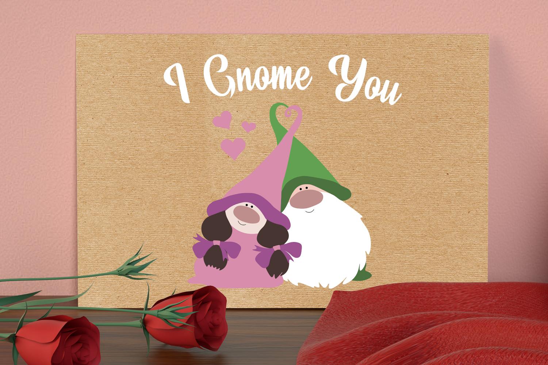 I Gnome You Svg, Valentine's Svg, Gnome In Love Svg example image 5