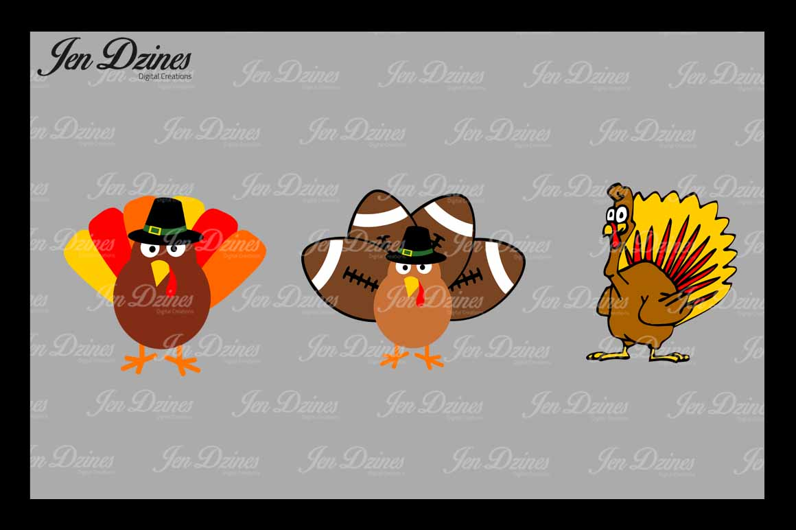 Turkey SVG DXF EPS PNG example image 1