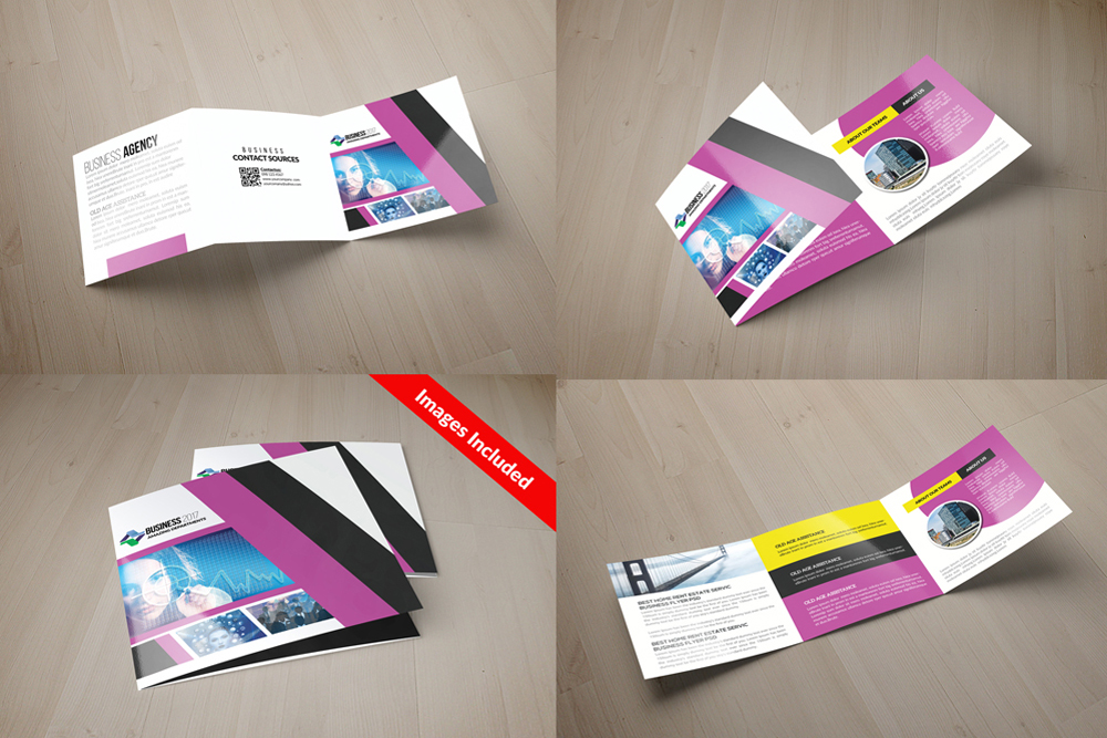 25 Square Trifold Business Brochures Bundle example image 23