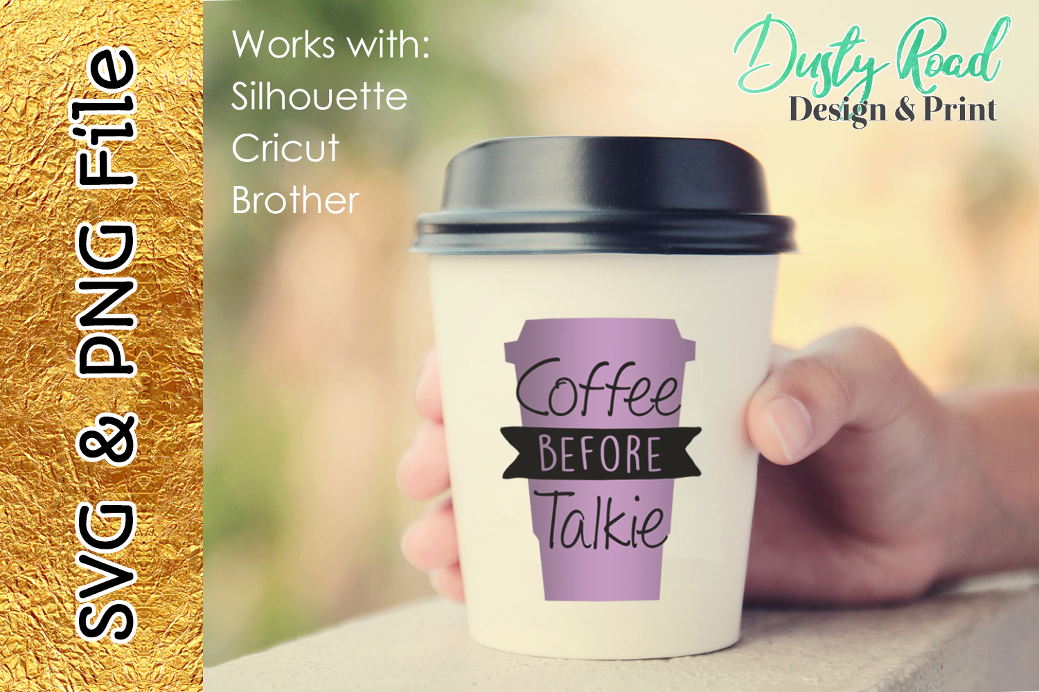 SVG & PNG - Coffee before talkie example image 1