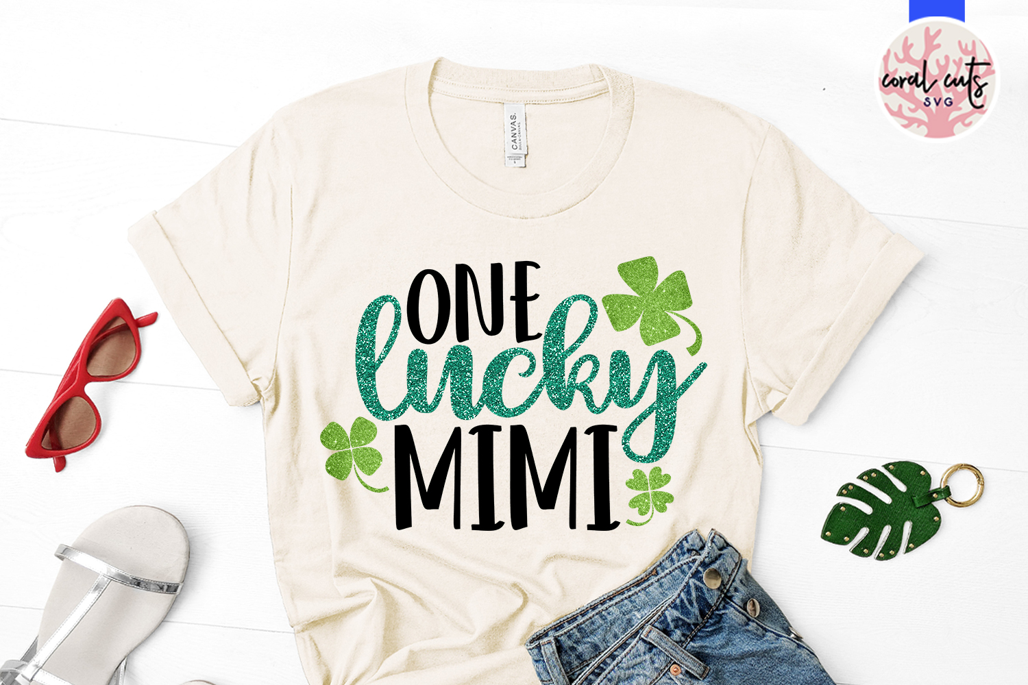 One lucky mimi - St. Patrick's Day SVG EPS DXF PNG example image 2