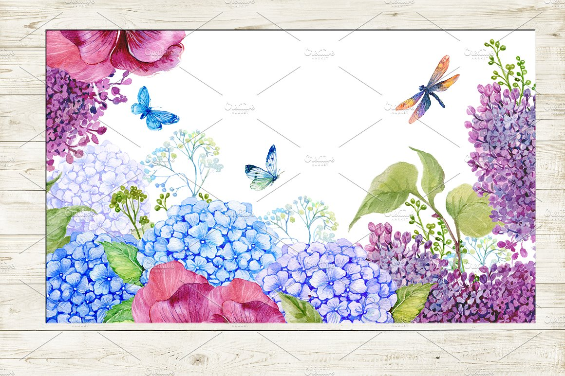 35 floral backgrounds watercolor example image 5