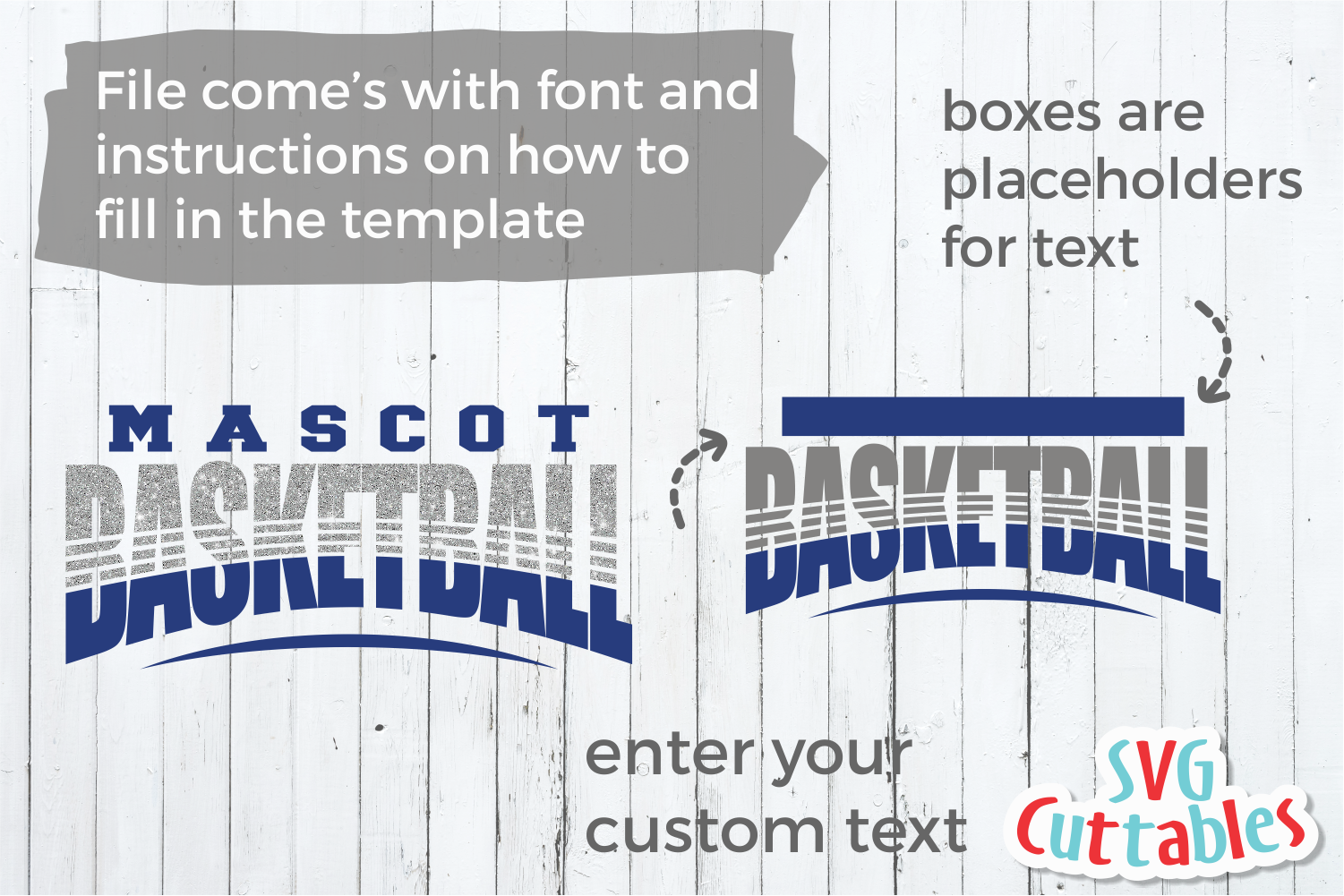 Basketball Template 0038 | Cut File example image 2