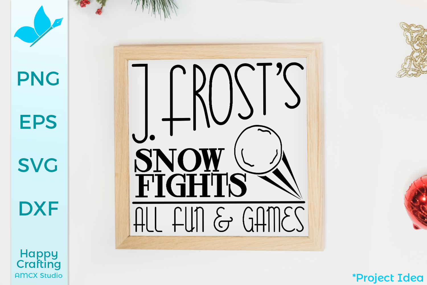 Jack Frost's Snow Fights - A Winter Sign Craft File example image 1