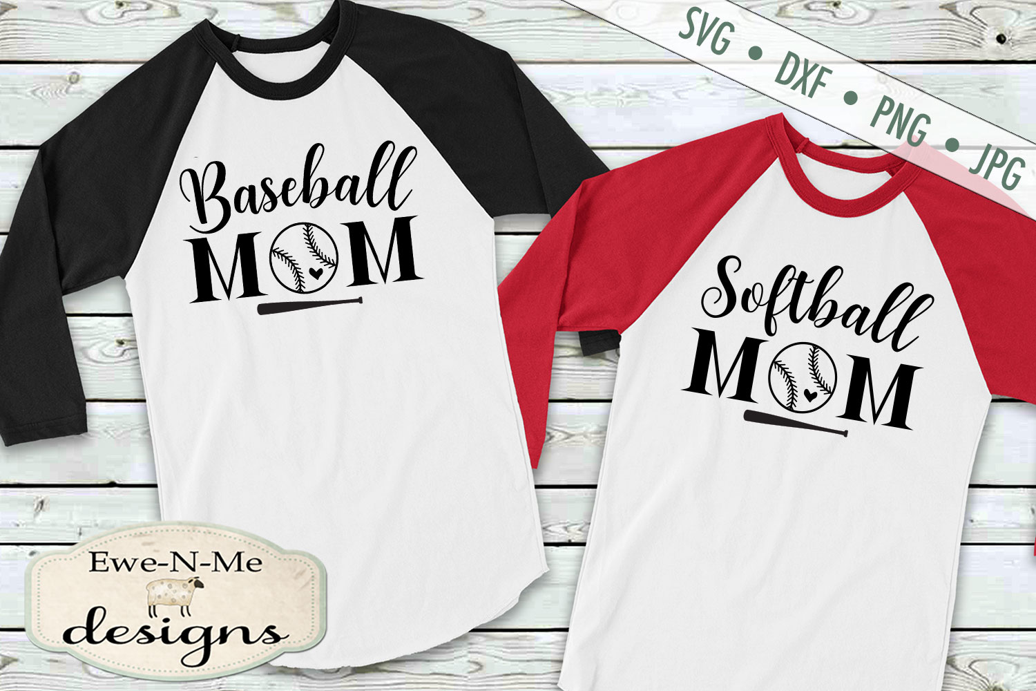Baseball Softball Bundle Baseball Mom SVG DXF Files example image 3