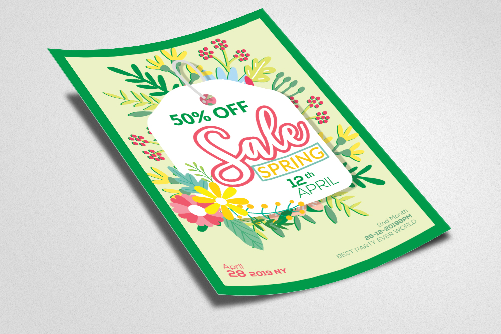 Spring Sale Offer Flyer Template example image 2