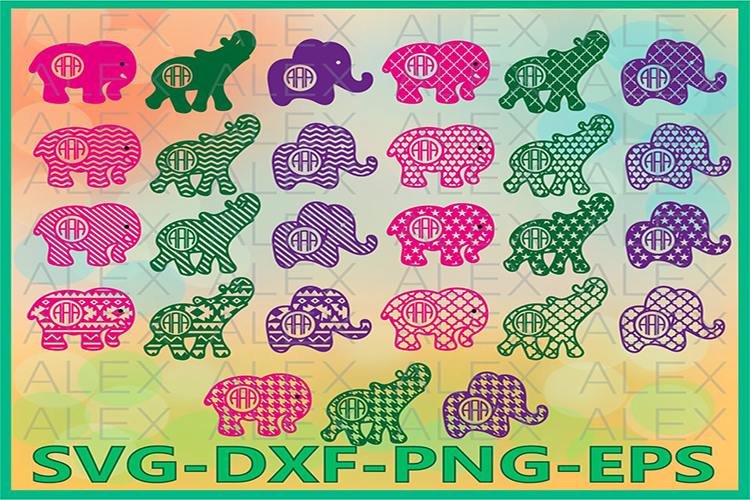 Elephant SVG, Elephant SVG files for Cricut example image 1