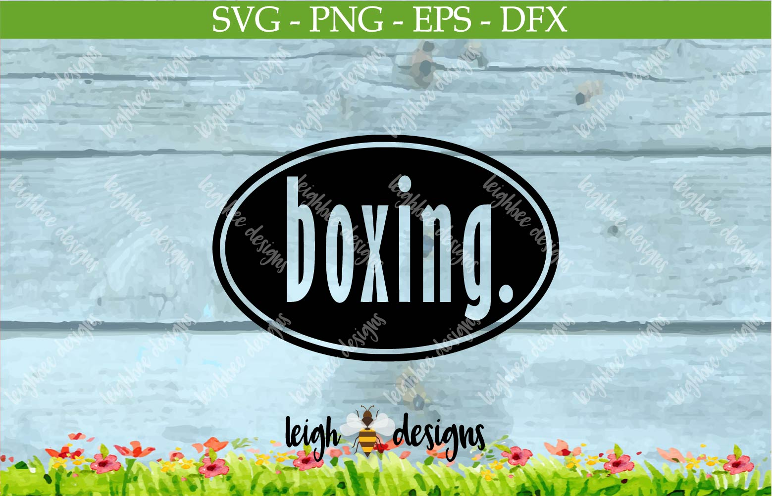 Boxing Oval SVG/DFX/PNG/EPS File  example image 2
