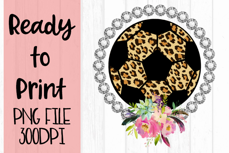 Bling Flowers Soccer Ready to Print example image 1