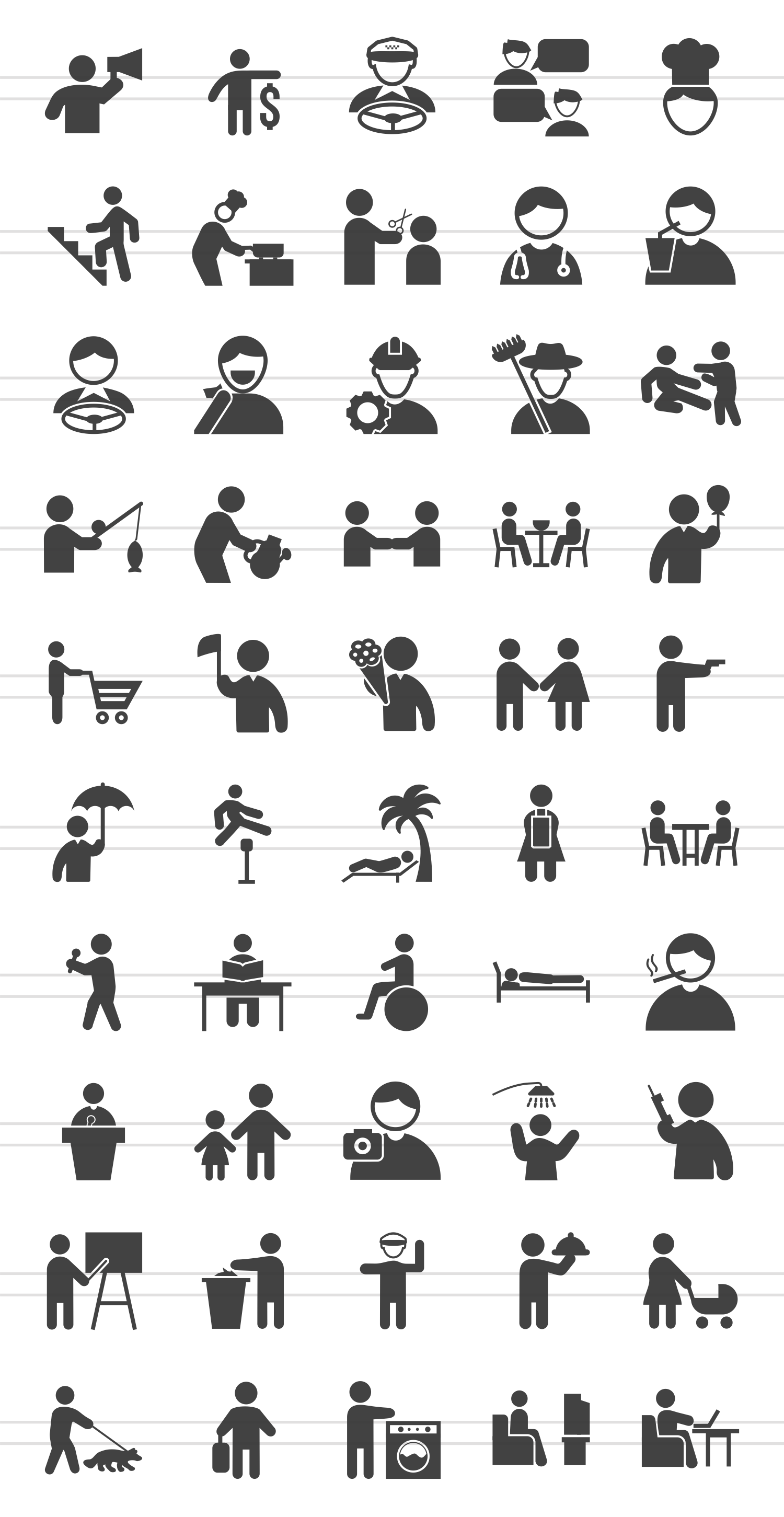 50 Activities Glyph Icons example image 2