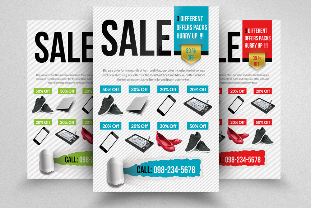 6 Big Sale Offer Flyers Bundle example image 7