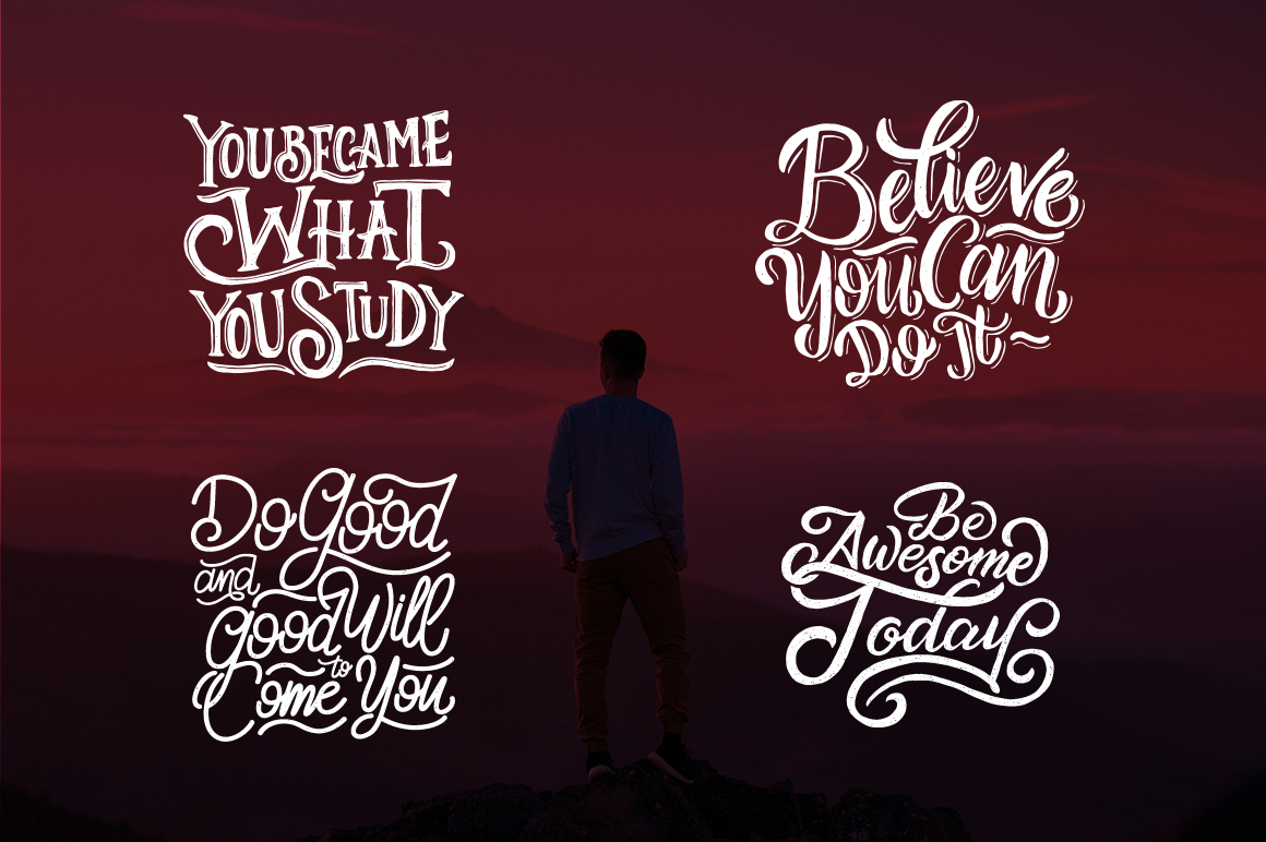 SVG Bundle - Hand Lettering Motivational Quotes Vol 2 example image 7