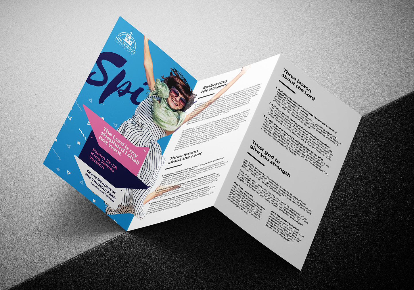 Easter Service Tri-Fold Brochure Template example image 5