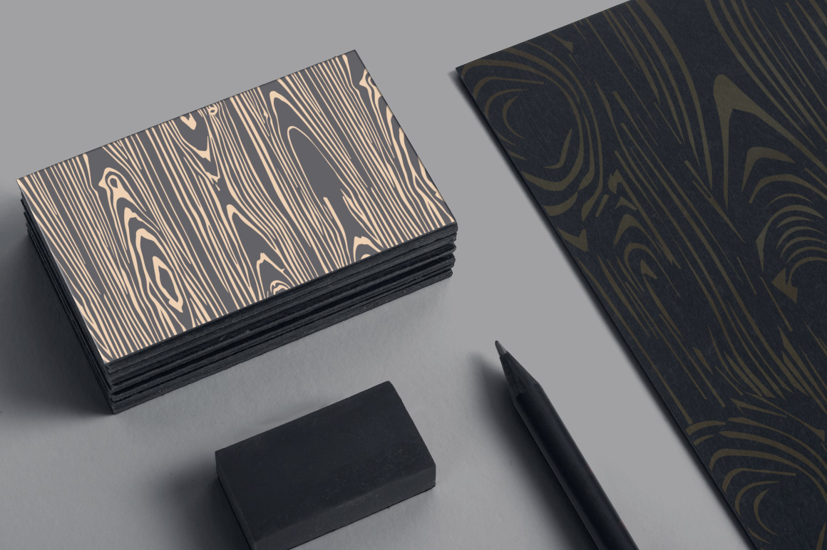 Woodgrain Seamless Vector Patterns example image 5