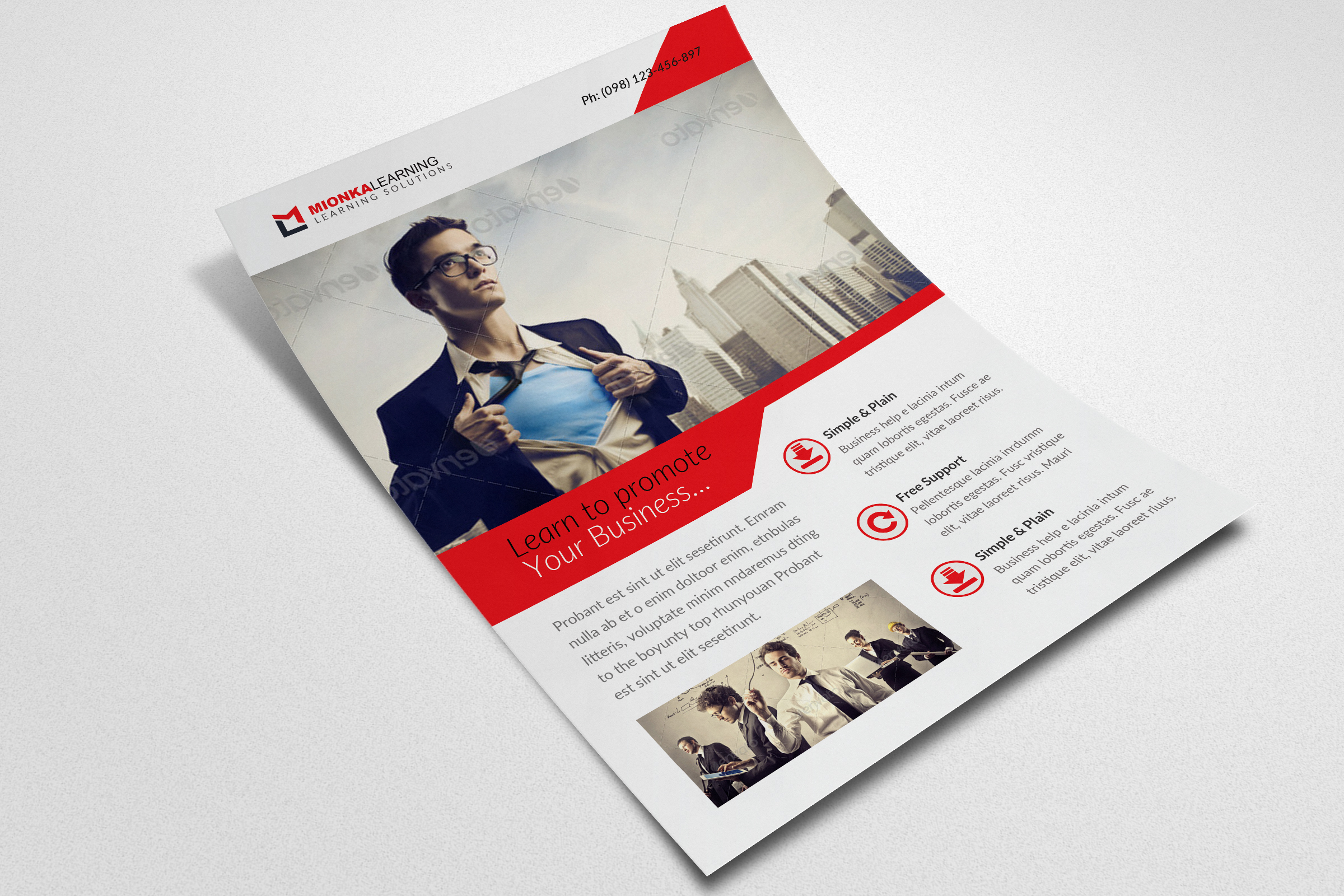 Business Motivation Flyer Template example image 3
