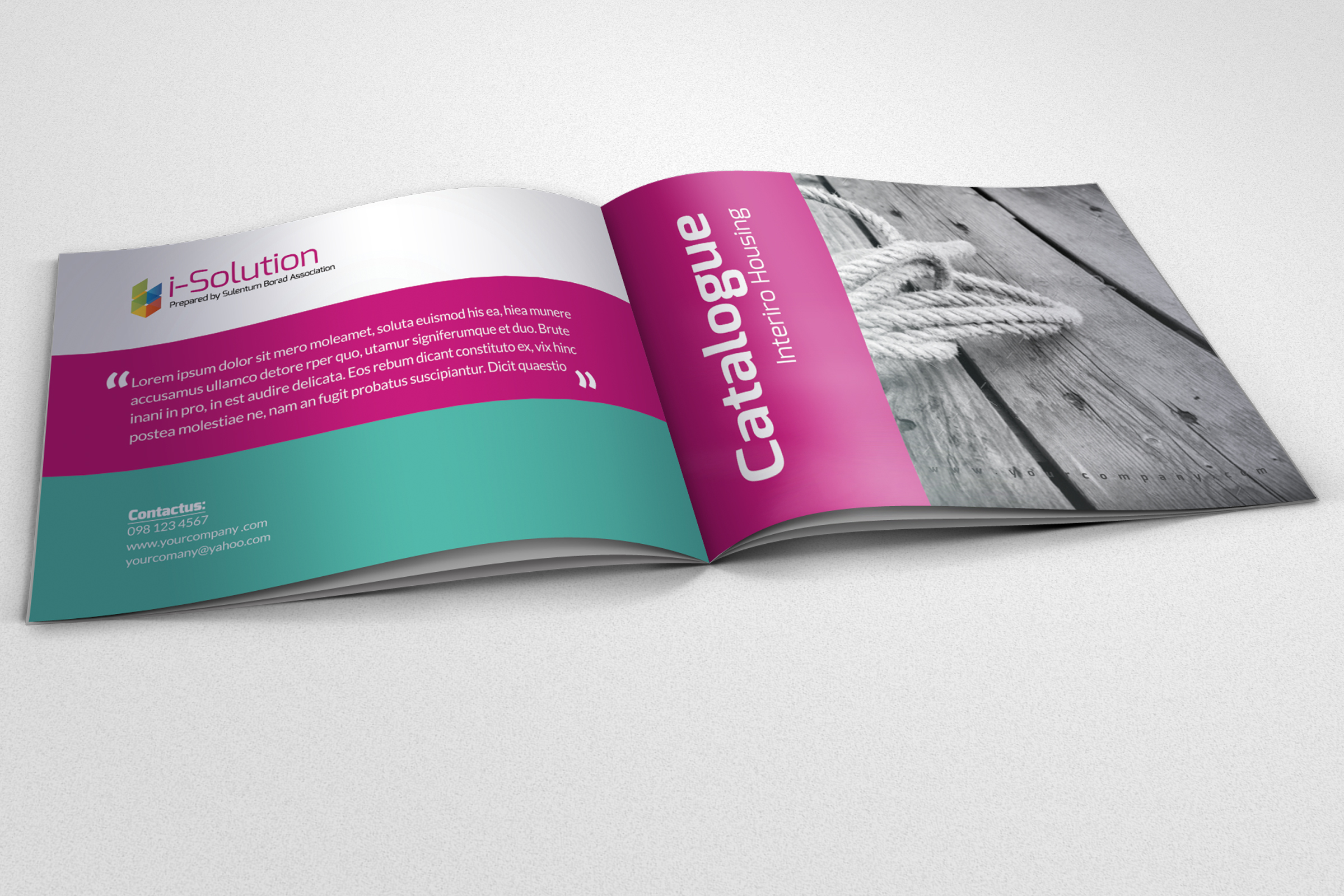 Business Square Trifold Brochure example image 1