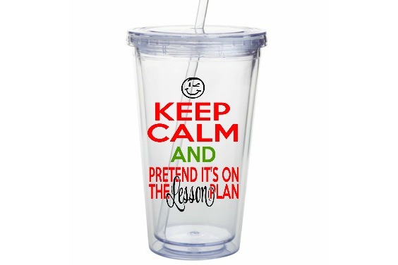 Keep Calm Pretend It's On the Lesson Plan SVG Cut File LL035 example image 2