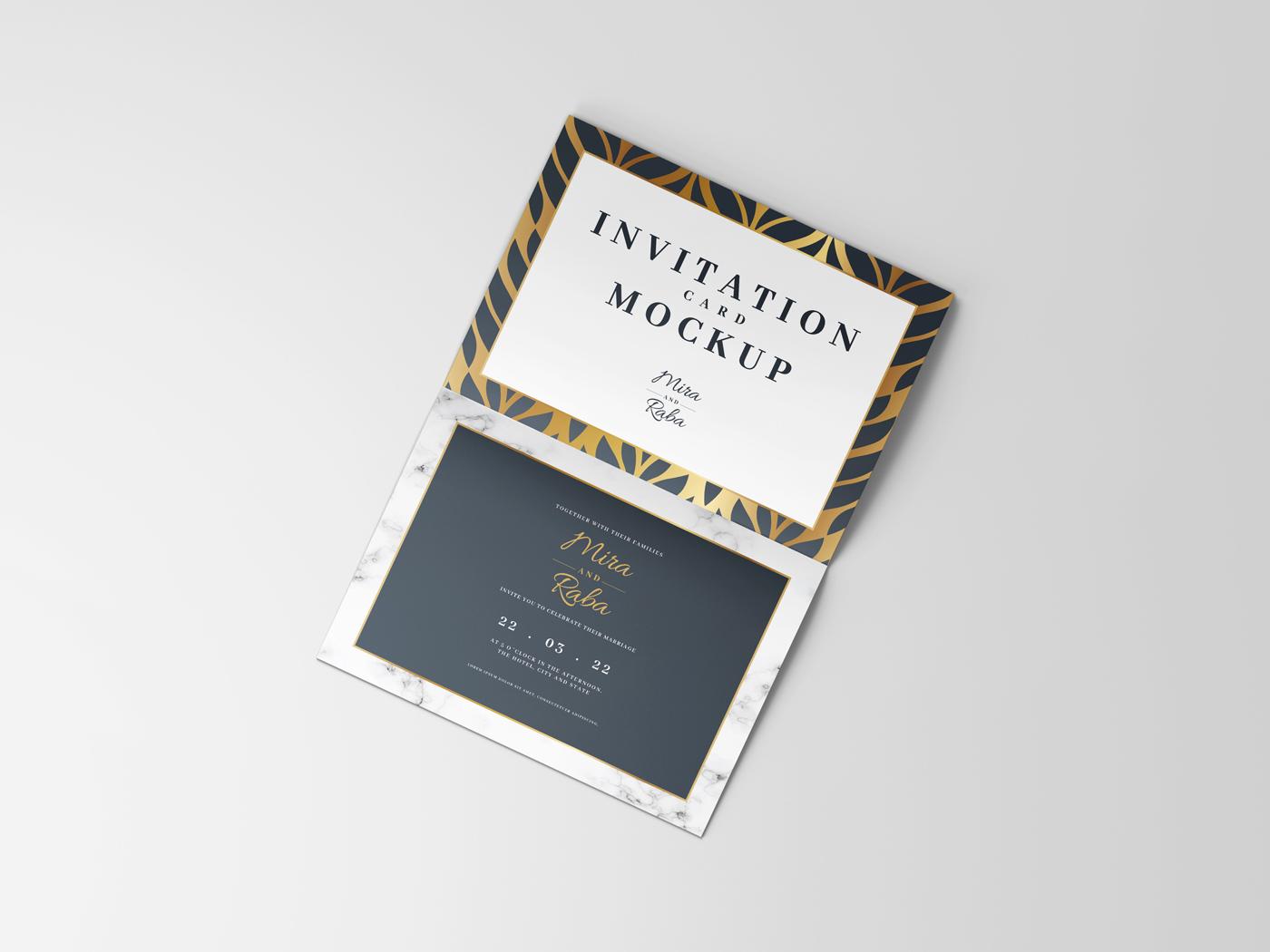 Invitation Card Mockups V1 example image 10
