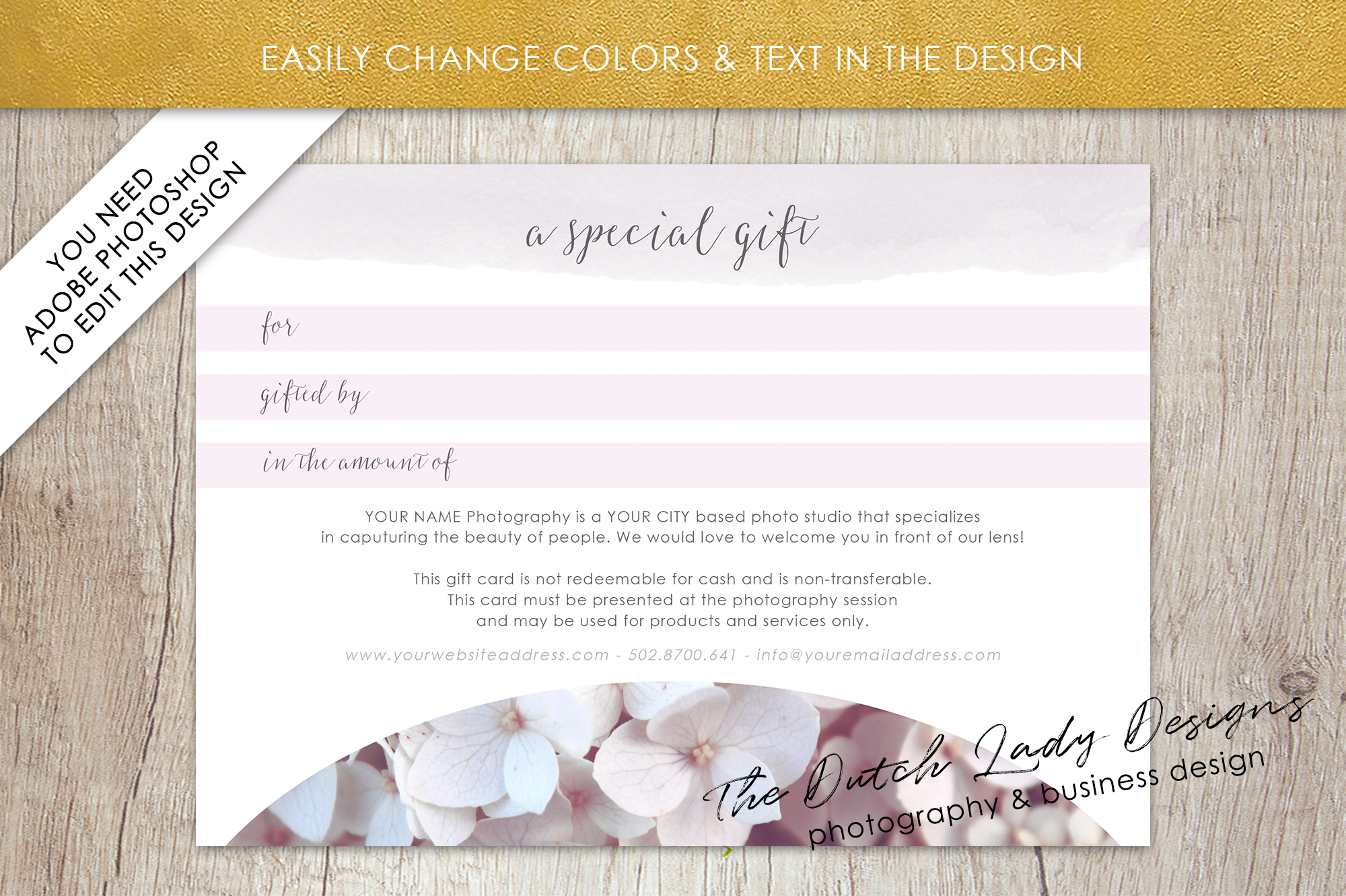 Photo Gift Card Template for Adobe Photoshop - #52 example image 5