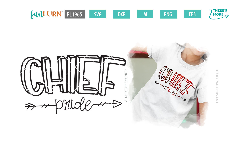 Chief Pride Team SVG Cut File example image 1