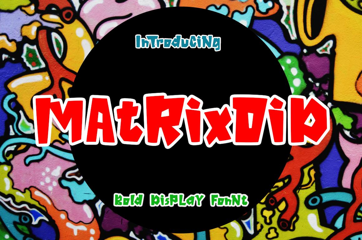 Matrixoid Bold Display font example image 1