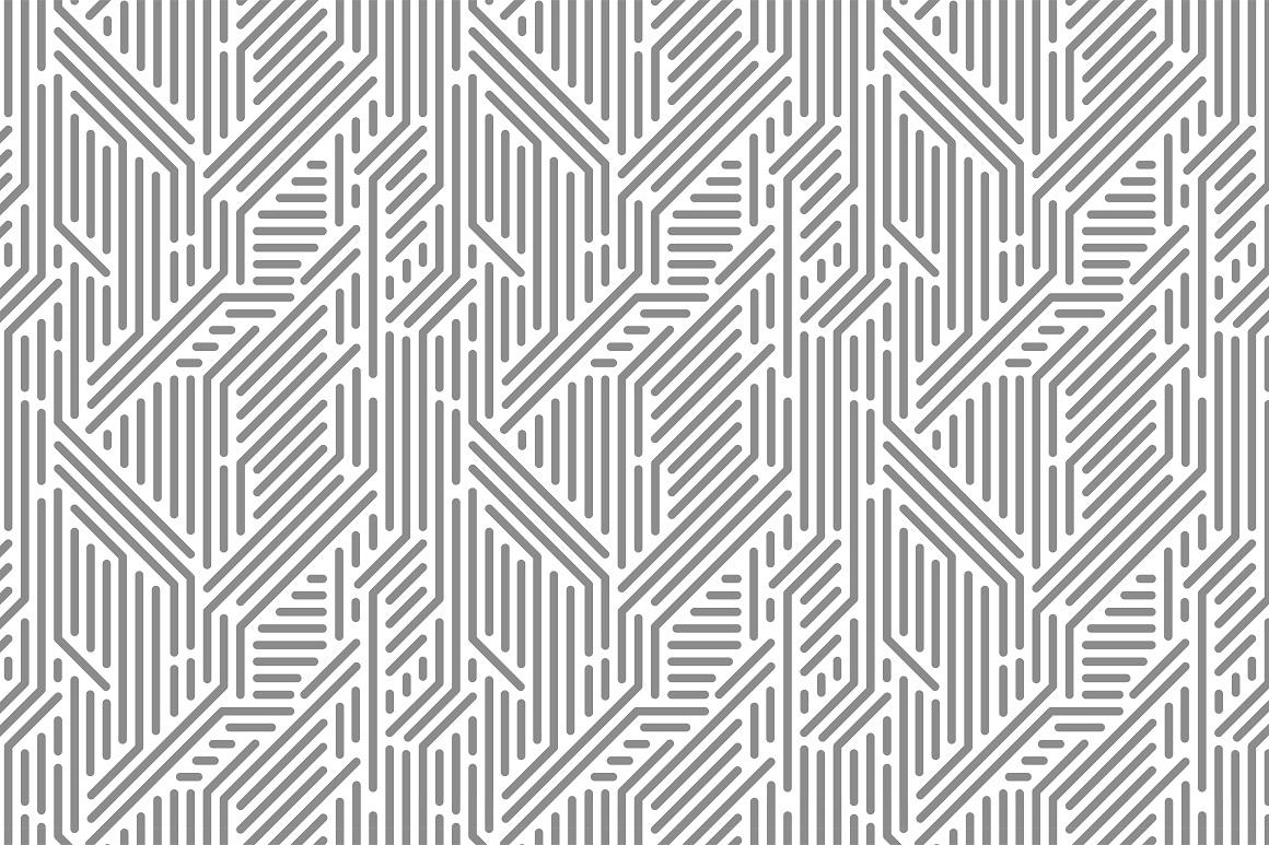 Seamless striped geometric patterns example image 7