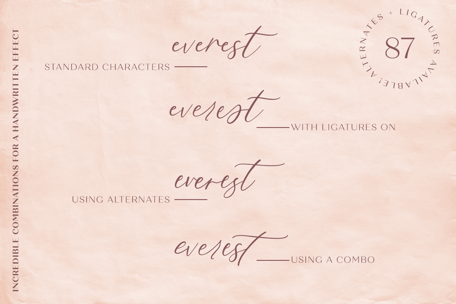 Fall Ember Calligraphy Script Font example image 10