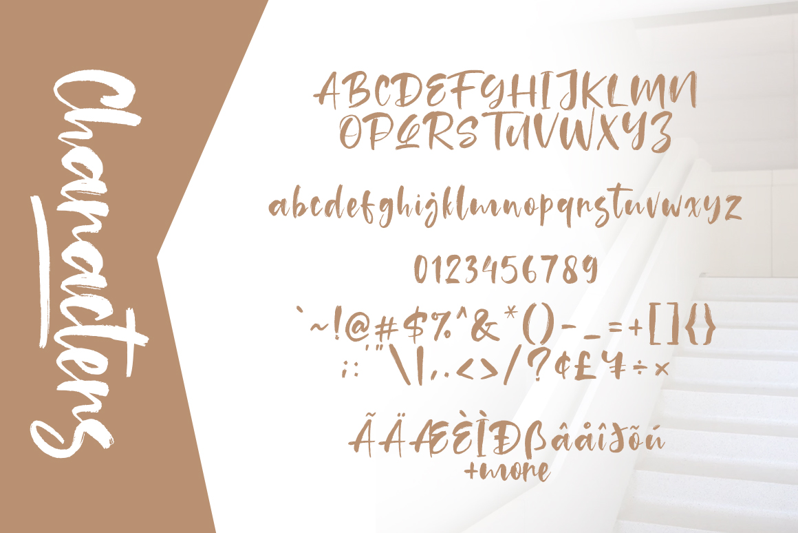 Tuckers Brush Font example image 7