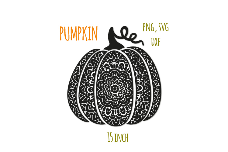 Scroll pumpkin svg. Bohemian fancy pumpkin example image 1