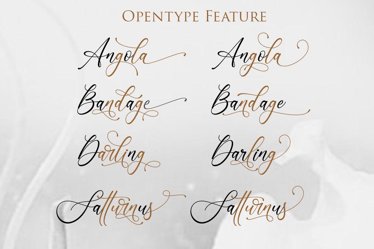 Lenttera | Beauty Style Calligraphy example image 6