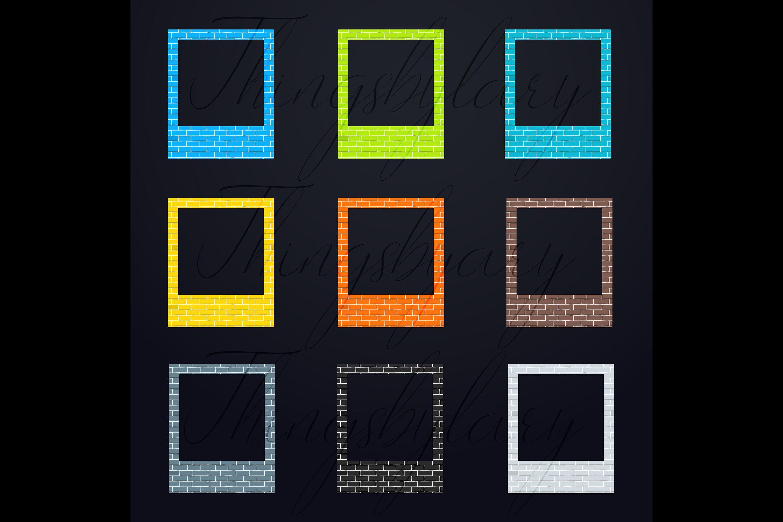 254 Brick Wall Polaroid Photo Booth Baby Shower Photo Frames example image 8