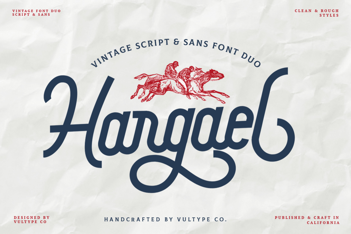 Hargael - Vintage Script Font example image 1