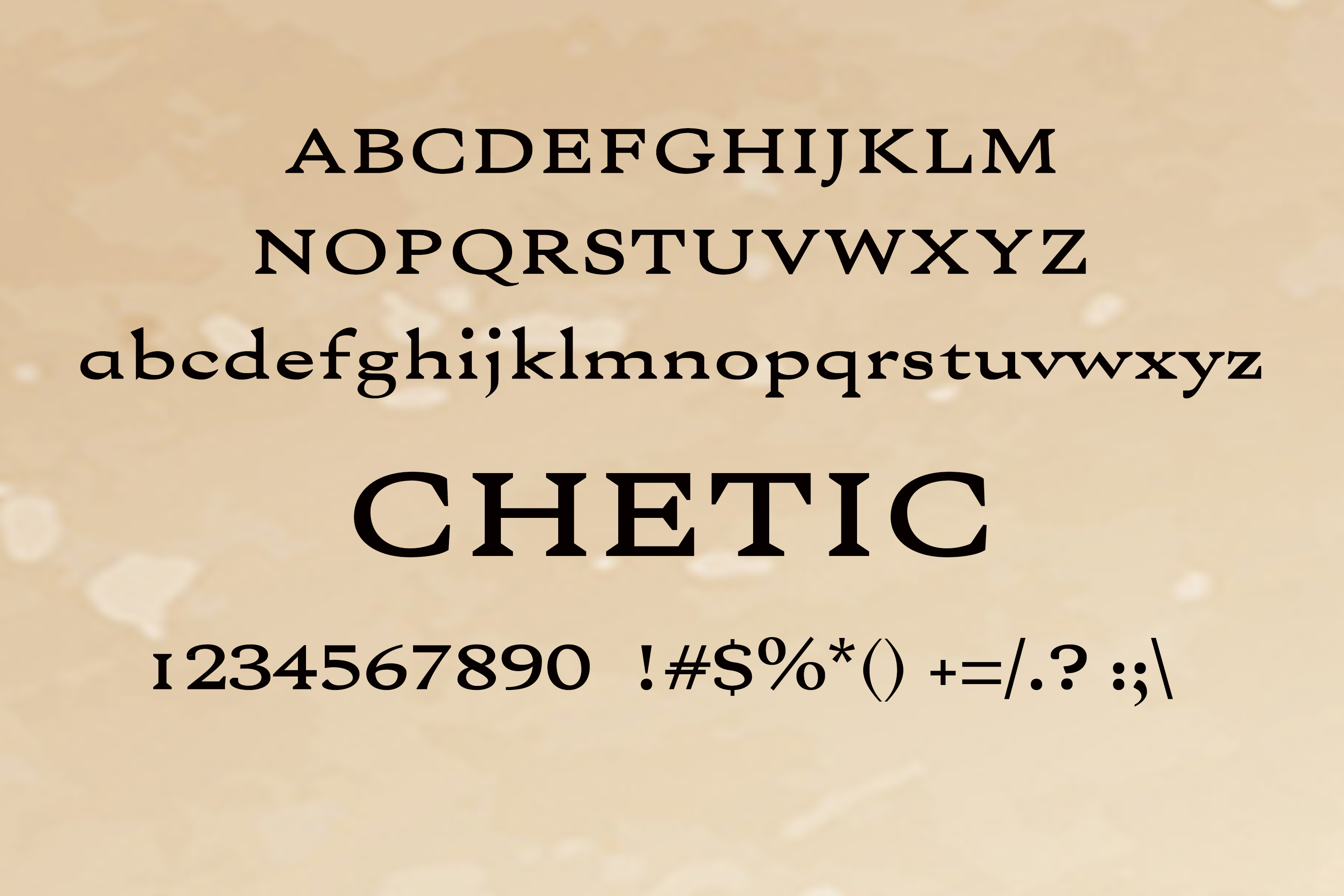 Chetic Font example image 2