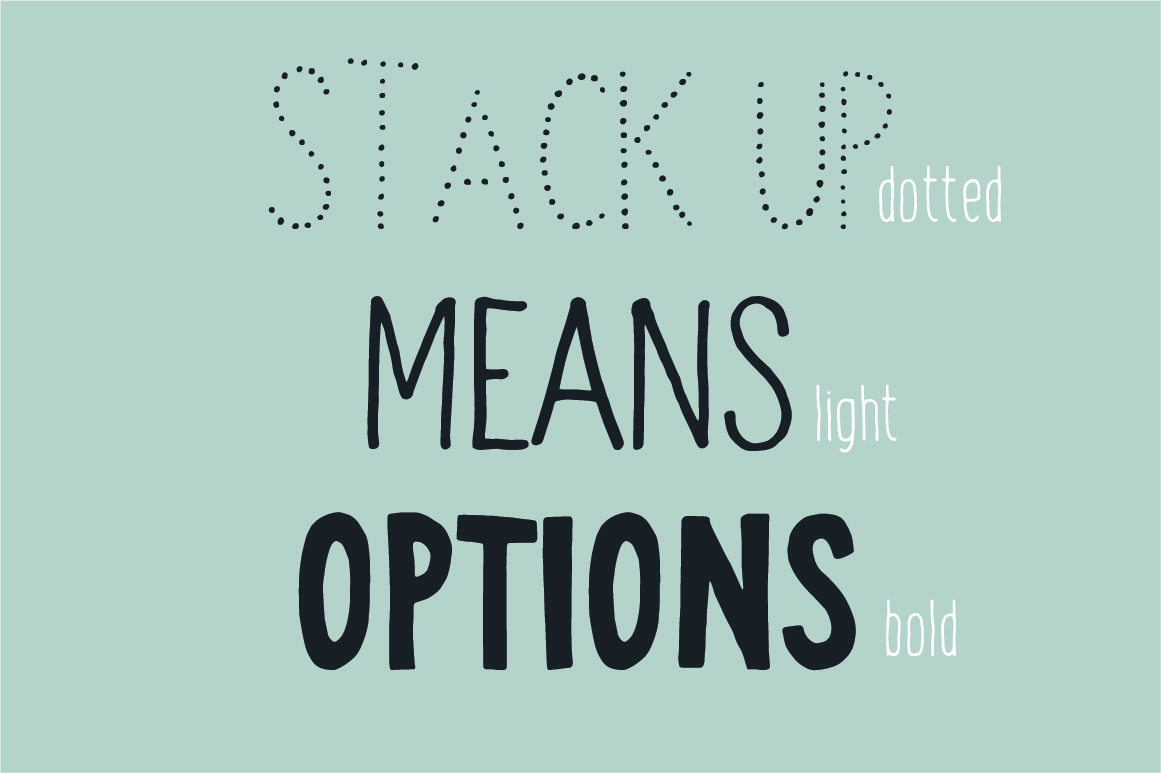 Stack up - The universal font family example image 3