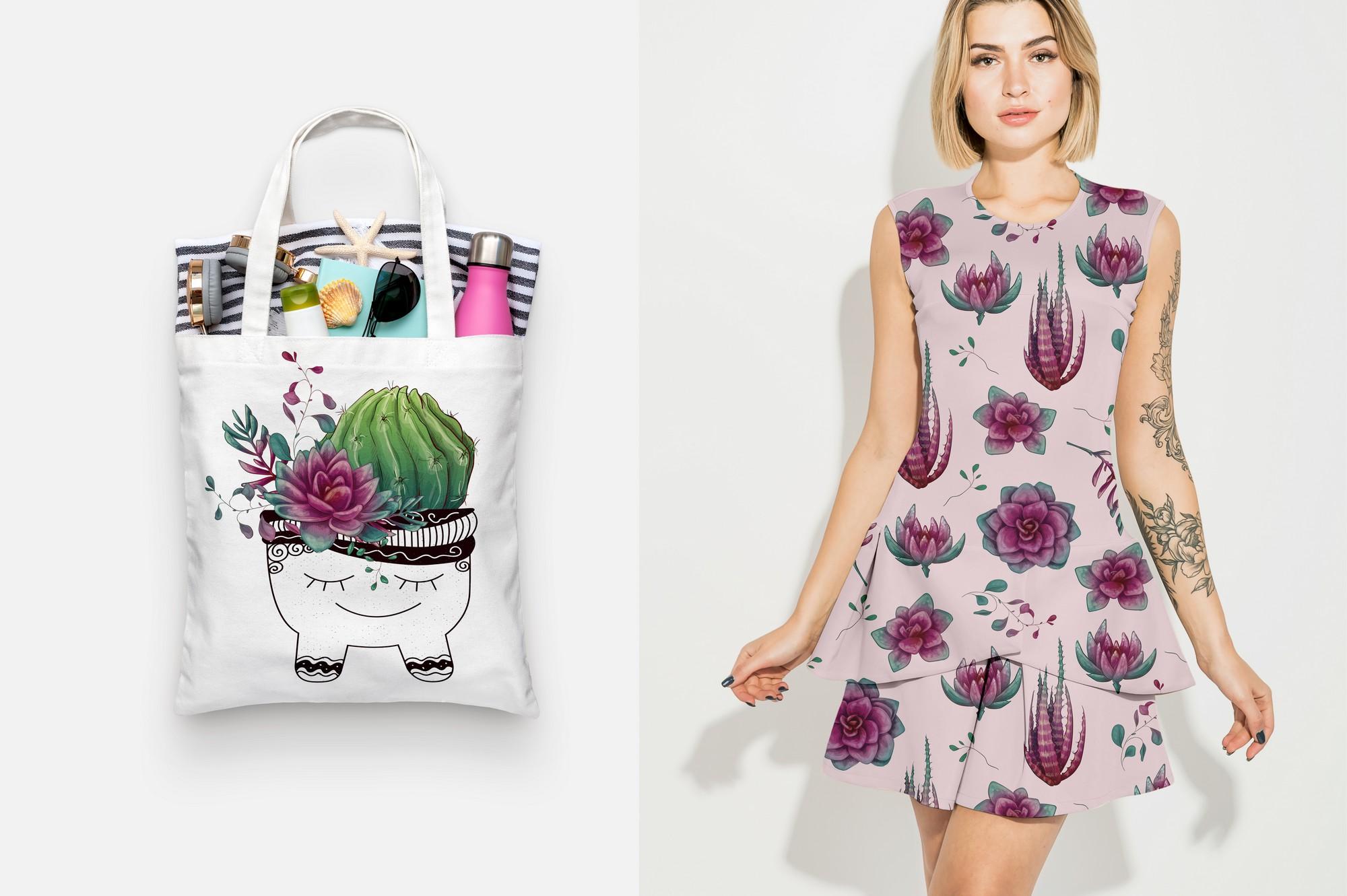 Cacti & Succulents in purple example image 8