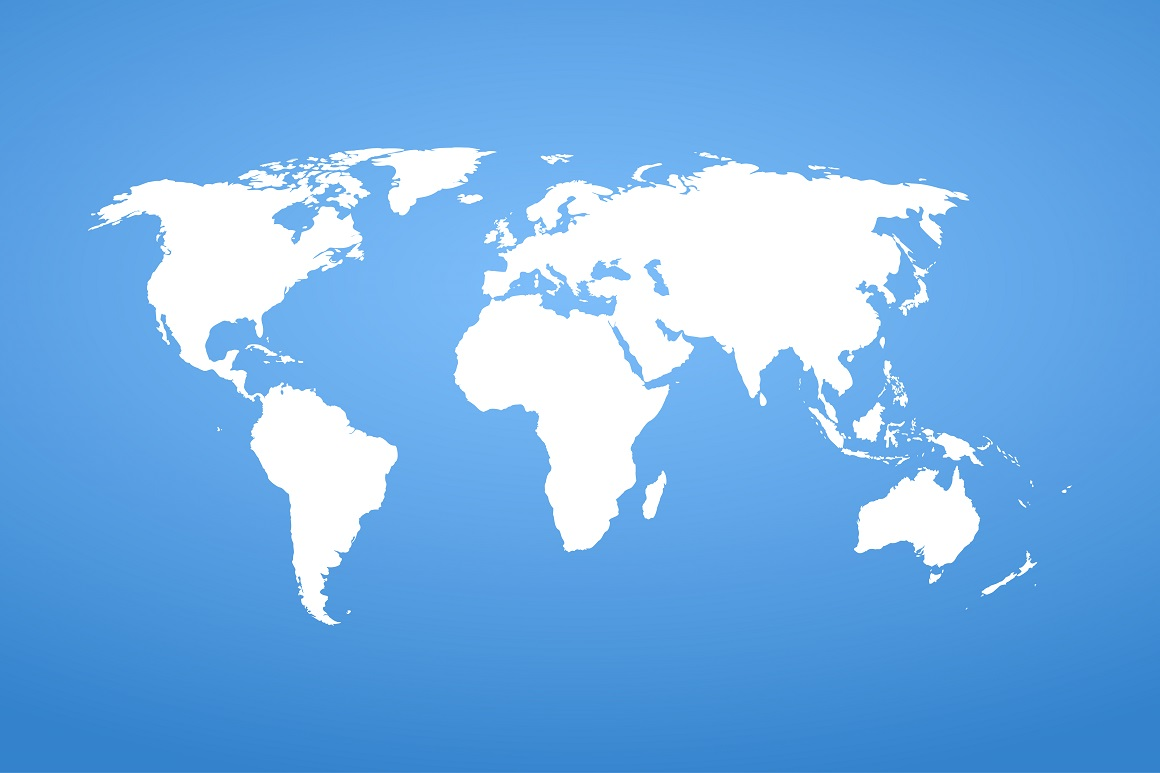 World detail vector map. example image 1