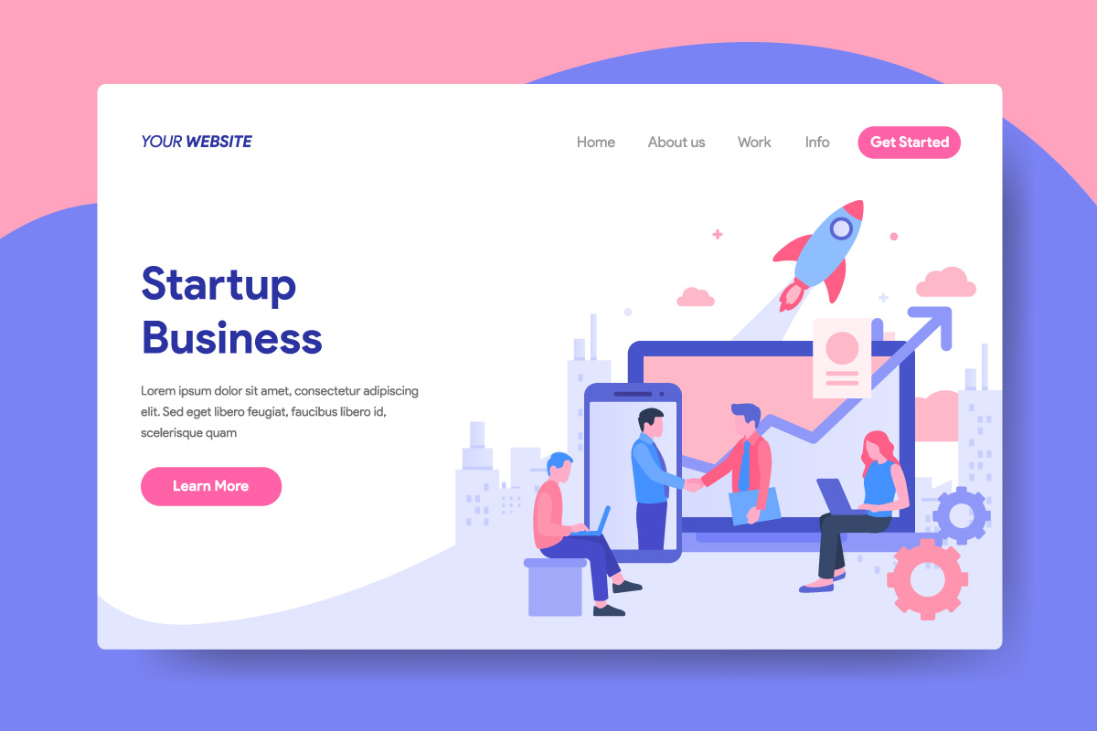 Startup Business Illustration Concept for Landing Page example image 1