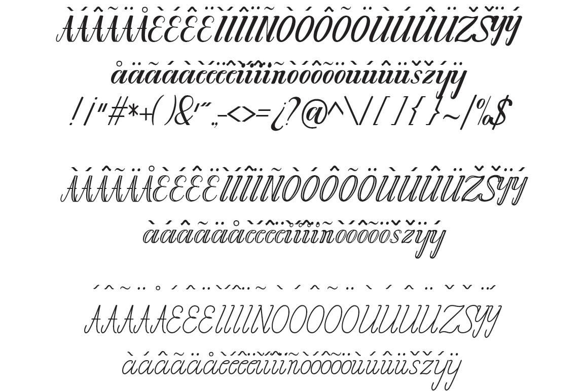 Chathalia Font Family example image 5