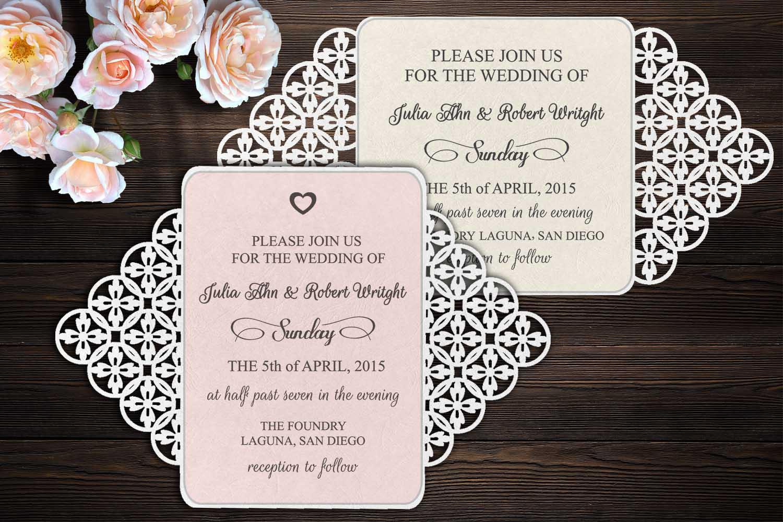 rustic gate fold wedding invitation template svg dxf laser