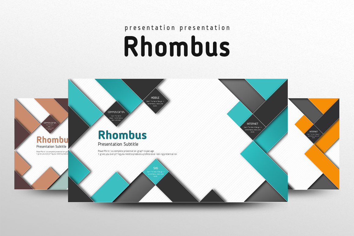 Rhombus Template example image 1