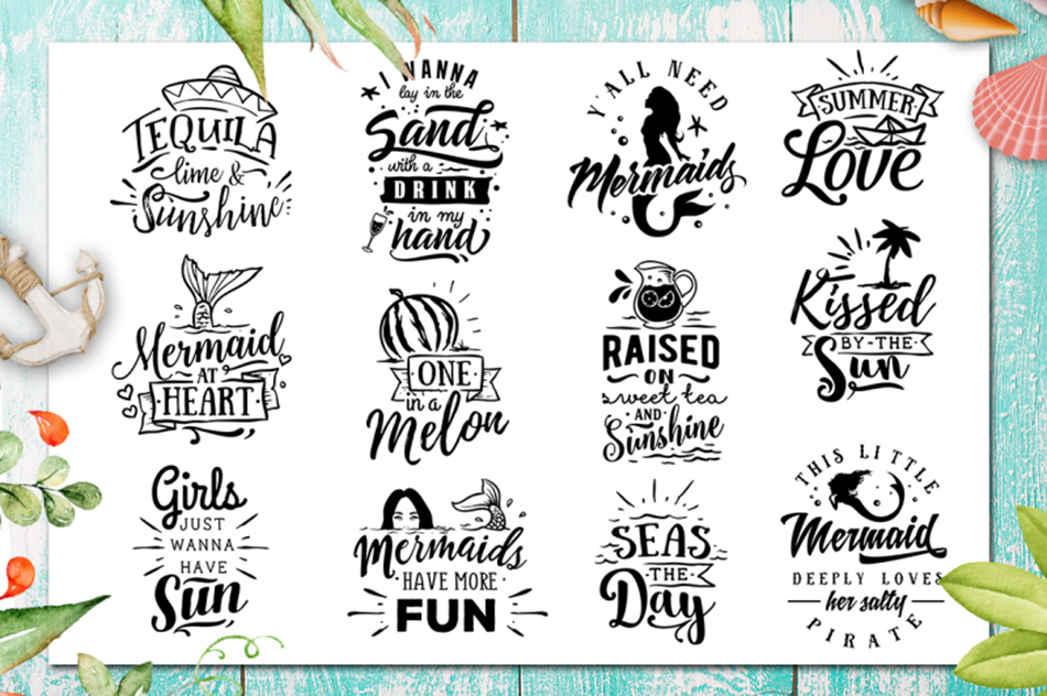 Summer SVG bundle 65 designs Beach SVG bundle example image 4