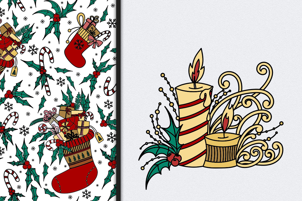 Christmas Doodles example image 12