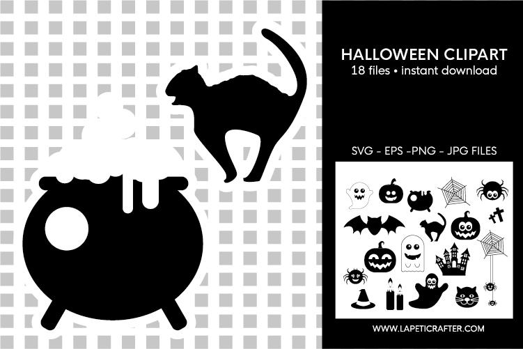 Halloween silhouette, halloween black clipart, digital stick example image 6