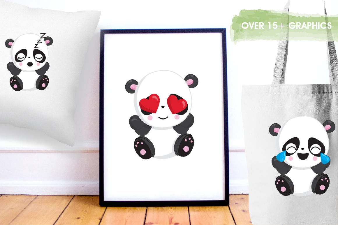 Panda friends graphics and illustrations example image 5