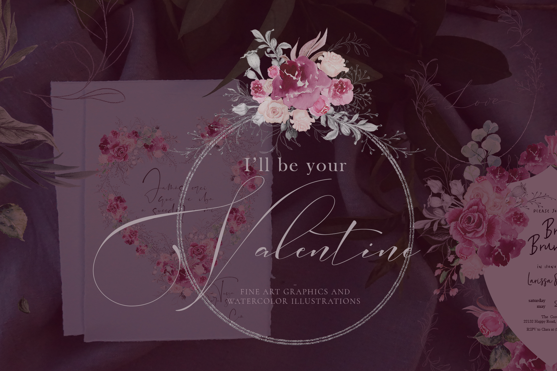 I'll be your Valentine - Pencil Fine Art and Watercolor example image 1