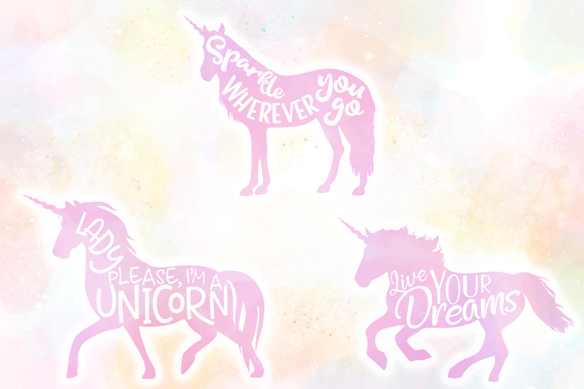 Unicorn Quotes SVG Cut Files Pack example image 3