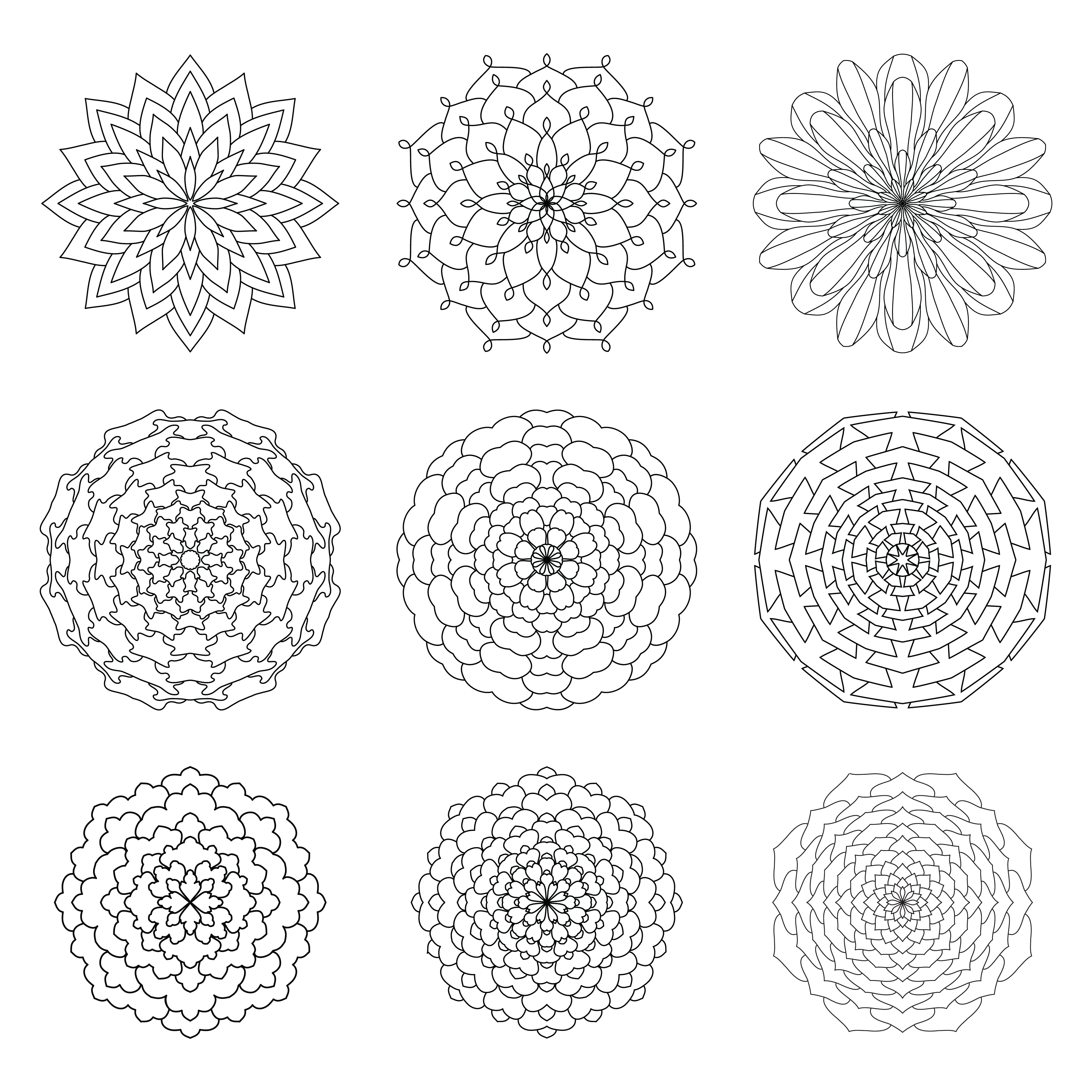 Set of Mandalas example image 3