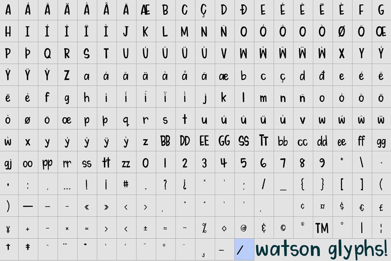 My Dear Watson Font example image 3